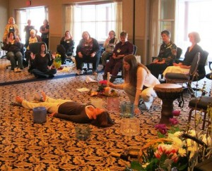 Sound Healing Demo with Crystal Singing Bowls